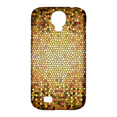 Yellow And Black Stained Glass Effect Samsung Galaxy S4 Classic Hardshell Case (pc+silicone)