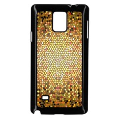 Yellow And Black Stained Glass Effect Samsung Galaxy Note 4 Case (black) by Amaryn4rt