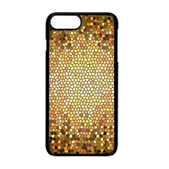 Yellow And Black Stained Glass Effect Apple Iphone 7 Plus Seamless Case (black)