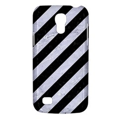 Stripes3 Black Marble & White Marble Samsung Galaxy S4 Mini (gt I9190) Hardshell Case  by trendistuff