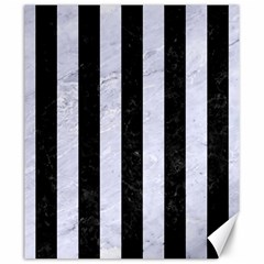 Stripes1 Black Marble & White Marble Canvas 20  X 24