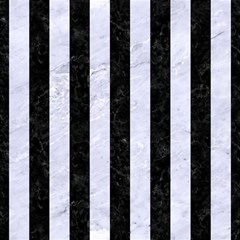 Stripes1 Black Marble & White Marble Magic Photo Cube by trendistuff