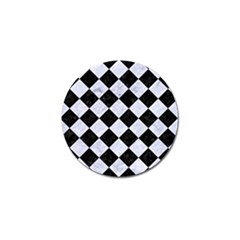 Square2 Black Marble & White Marble Golf Ball Marker (10 Pack) by trendistuff