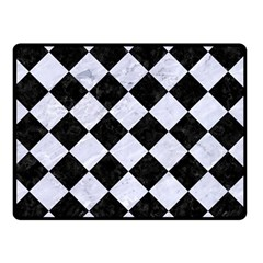 Square2 Black Marble & White Marble Double Sided Fleece Blanket (small) by trendistuff