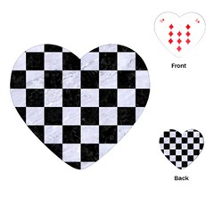 Square1 Black Marble & White Marble Playing Cards (heart) by trendistuff