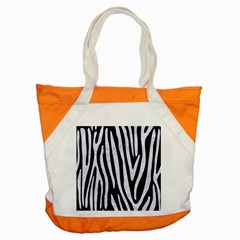 Skin4 Black Marble & White Marble (r) Accent Tote Bag by trendistuff
