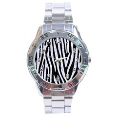Skin4 Black Marble & White Marble (r) Stainless Steel Analogue Watch by trendistuff