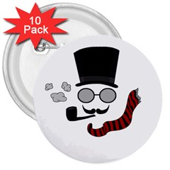 Invisible Man 3  Buttons (10 Pack)  by Valentinaart