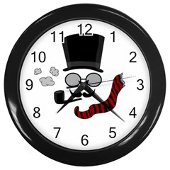 Invisible Man Wall Clocks (black) by Valentinaart
