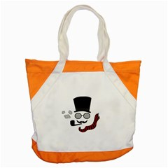 Invisible Man Accent Tote Bag by Valentinaart