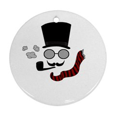 Invisible Man Round Ornament (two Sides) by Valentinaart