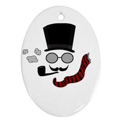Invisible Man Oval Ornament (two Sides) by Valentinaart