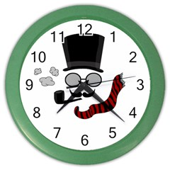 Invisible Man Color Wall Clocks by Valentinaart