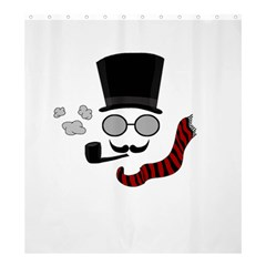 Invisible Man Shower Curtain 66  X 72  (large)  by Valentinaart