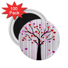 Valentine s Day Tree 2 25  Magnets (100 Pack)  by Valentinaart