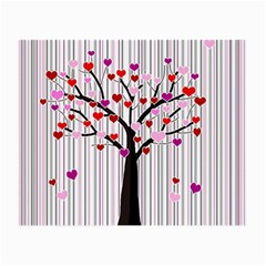 Valentine s Day Tree Small Glasses Cloth by Valentinaart