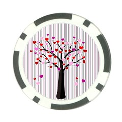 Valentine s Day Tree Poker Chip Card Guard