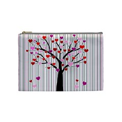 Valentine s Day Tree Cosmetic Bag (medium)  by Valentinaart