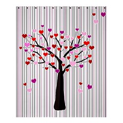 Valentine s Day Tree Shower Curtain 60  X 72  (medium)  by Valentinaart