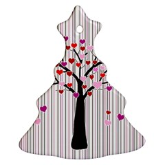 Valentine s Day Tree Christmas Tree Ornament (two Sides)