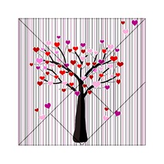 Valentine s Day Tree Acrylic Tangram Puzzle (6  X 6 ) by Valentinaart