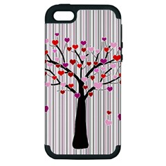 Valentine s Day Tree Apple Iphone 5 Hardshell Case (pc+silicone)