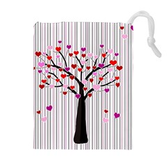 Valentine s Day Tree Drawstring Pouches (extra Large) by Valentinaart
