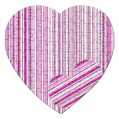 Pink Love Pattern Jigsaw Puzzle (heart) by Valentinaart