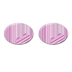 Pink Love Pattern Cufflinks (oval) by Valentinaart