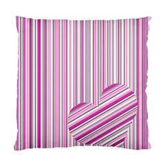 Pink Love Pattern Standard Cushion Case (one Side) by Valentinaart