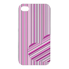 Pink Love Pattern Apple Iphone 4/4s Hardshell Case by Valentinaart