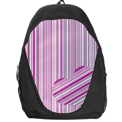 Pink Love Pattern Backpack Bag