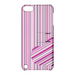 Pink Love Pattern Apple Ipod Touch 5 Hardshell Case With Stand by Valentinaart