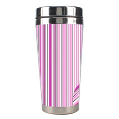 Pink Love Pattern Stainless Steel Travel Tumblers by Valentinaart