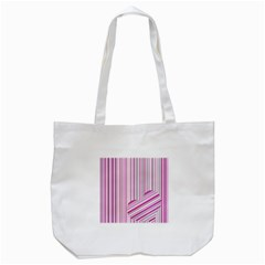 Pink Love Pattern Tote Bag (white)