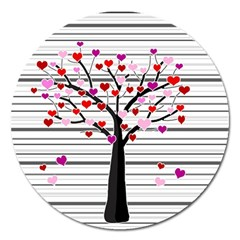 Love Tree Magnet 5  (round) by Valentinaart