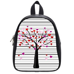 Love Tree School Bags (small)  by Valentinaart