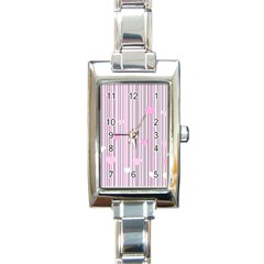Pink Love Rectangle Italian Charm Watch by Valentinaart