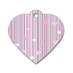 Pink Love Dog Tag Heart (one Side)