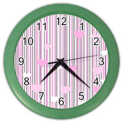 Pink Love Color Wall Clocks by Valentinaart