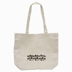 Simple Black And White Design Tote Bag (cream) by Valentinaart