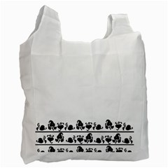 Simple Black And White Design Recycle Bag (one Side) by Valentinaart