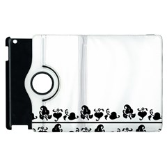 Simple Black And White Design Apple Ipad 2 Flip 360 Case by Valentinaart