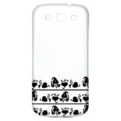 Simple Black And White Design Samsung Galaxy S3 S Iii Classic Hardshell Back Case by Valentinaart