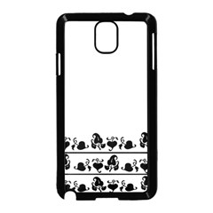 Simple Black And White Design Samsung Galaxy Note 3 Neo Hardshell Case (black) by Valentinaart