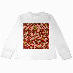 Pizza Pattern Kids Long Sleeve T Shirts by Valentinaart