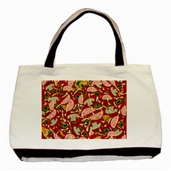 Pizza Pattern Basic Tote Bag (two Sides) by Valentinaart