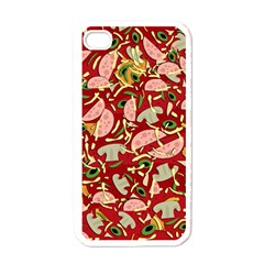 Pizza Pattern Apple Iphone 4 Case (white) by Valentinaart