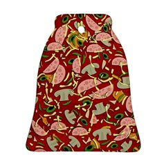 Pizza Pattern Bell Ornament (two Sides)