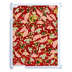 Pizza Pattern Apple Ipad 2 Case (white) by Valentinaart
